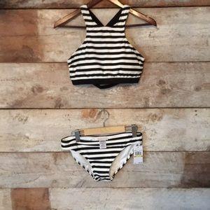 New with tags Michael Kors striped bikini M